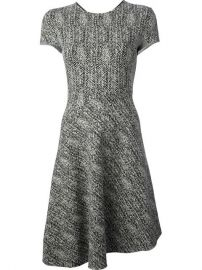 Stella Mccartney Herringbone Tweed Dress - Cumini at Farfetch