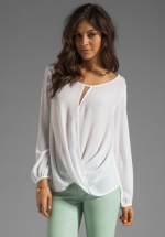 Stella Wrap blouse by Ella Moss at Revolve