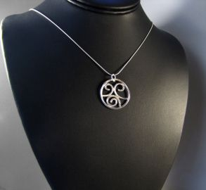 Sterling Silver Spirals Necklace Pendant at Etsy
