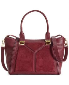 Steve Madden Bessiee Satchel in burgundy at Macys