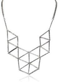 Steve Madden Geometric Link Necklace 25andquot  Amazoncom at Amazon