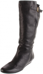 Steve Madden black riding boots at Amazon