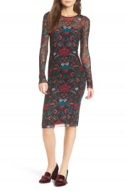 Stone Row Keep It Fly Mesh Dress at Nordstrom