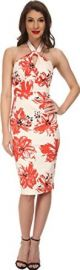 Stop Staring Womenand39s Acacia Fitted Dress Coral Floral Dress 16  Amazoncom at Amazon