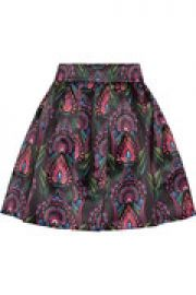 Stora printed satin mini skirt at The Outnet