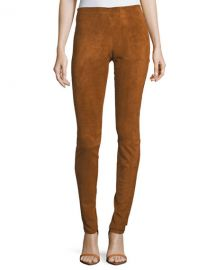 Stouls Carolyn Super-Skinny Lambskin Suede Leggings   Neiman at Neiman Marcus