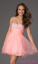 Strapless Sweetheart Dress at Prom Girl