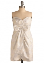 Strapless bow dress from ModCloth at Modcloth