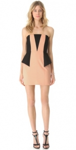 Strapless contrast dress by Michelle Mason at Shopbop