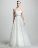 Strapless gown by Theia at Neiman Marcus