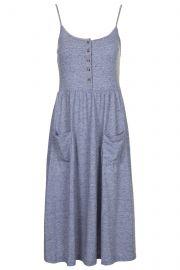Strappy Button Midi Dress at Topshop