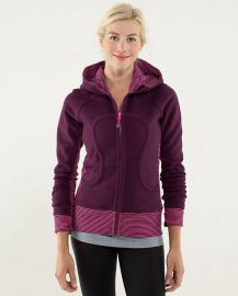 Stretch Lined Scuba Hoodie in Plum Hyper Stripe at Lululemon