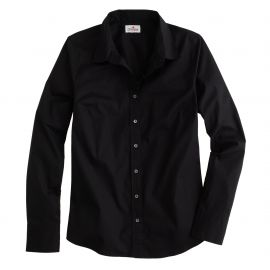 Stretch perfect shirt in black at J. Crew