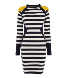 Stripe Knit Dress at Karen Millen
