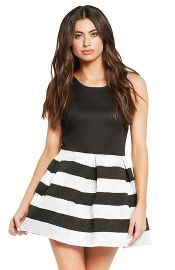 Stripe Bandage Dress at Daily Look