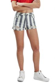 Stripe Distressed Denim Shorts at Nordstrom Rack