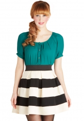 Stripe It Lucky Skirt at ModCloth