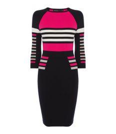 Stripe Pencil Knit Dress by Karen Millen at Karen Millen