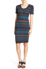 Stripe Rib Knit Body-Con Dress by Lush at Nordstrom Rack