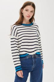 Stripe jumper at Topshop