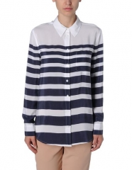 Stripe shirt by Equipment at The Corner