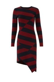 Striped Asymmetric Hem Dress by Slate  Willow at Rent the Runway