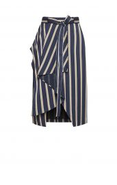 Striped Asymmetrical Skirt at Bcbg