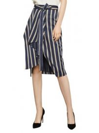 Striped Asymmetrical Skirt by Bcbgmaxazria at Lord and Taylor