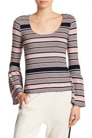 Striped Bell Sleeve Top at Nordstrom Rack