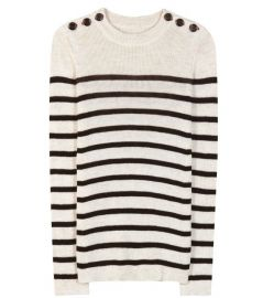 Striped Button Shoulder Sweater by Isabel Marant at Barneys