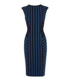 Striped Corset Pencil Dress at Karen Millen