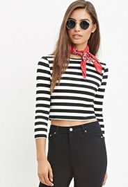 Striped Crop Top  Forever 21 - 2000142721 at Forever 21