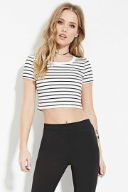 Striped Crop Top  Forever 21 - 2000182852 at Forever 21