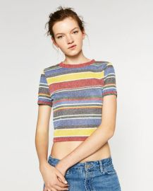 Striped Crop Top at Zara