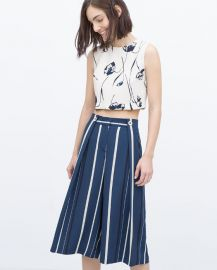 Striped Culottes at Zara