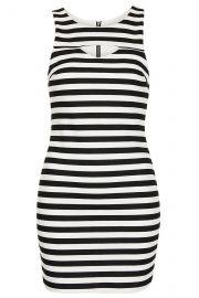 Striped Cutout Dress at Topshop