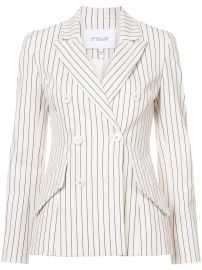 Striped Double-Breasted Blazer by Derek Lam 10 Crosby at Farfetch