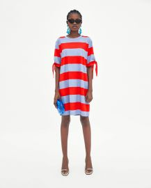 Striped Dress with Knots by Zara at Zara