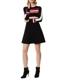Striped Fit-and-Flare Dress at Bloomingdales