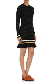Striped Flutter-Hem Sweaterdress at Barneys