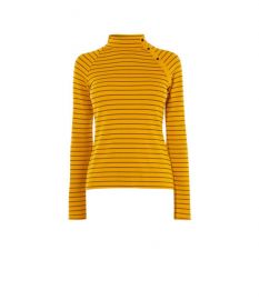 Striped High-Neck Top by Karen Millen at Karen Millen