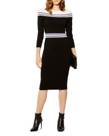 Striped Knit Midi Dress by Karen Millen at Bloomingdales