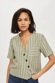 Striped Linen Shirt - New In Fashion - New In at Topshop