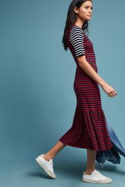 Striped Midi Dress by Cynthia Rowley at Anthropologie