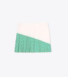 Striped Pleated-Hem Skirt by Tory Burch at Tory Burch