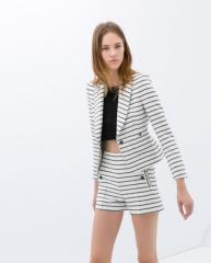 Striped Short Blazer at Zara