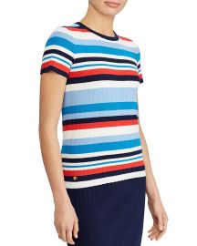 Striped Short-Sleeve Sweater by Lauren Ralph Lauren at Bloomingdales