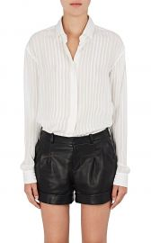 Striped Silk-Blend Georgette Blouse by Saint Laurent at Barneys