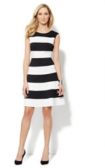 Striped Skater Dress at NY & Company