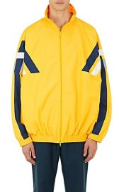 Striped Tech-Fabric Oversized Track Jacket at Barneys